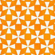 Tangerine Twirl Poster by Linda Woods