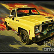 Taxicab Repair 1974 Gmc Poster by Blake Richards