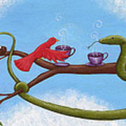 Tea And Eggs Poster by Christy Beckwith