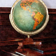 Teacher - Globe On Piano Poster by Susan Savad