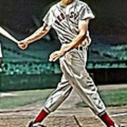 Ted Williams Painting Poster by Florian Rodarte