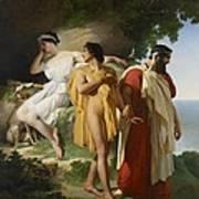 Telemachus And Eucharis Poster by Raymond Quinsac Monvoisin
