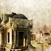 Temple Of Preah Vihear Poster by Catf