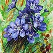 Tenderness Of Spring Poster by Zaira Dzhaubaeva