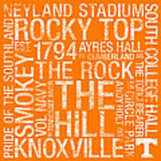 Tennessee College Colors Subway Art Poster by Replay Photos