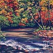 Tennessee Stream In The Fall Poster by John Clark