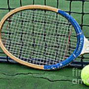 Tennis - Vintage Tennis Racquet Poster by Paul Ward