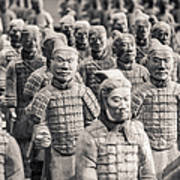 Terracotta Army Poster by Adam Romanowicz