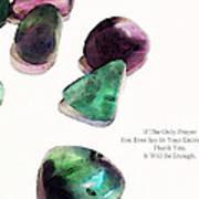 Thank You - Gratitude Rocks By Sharon Cummings Poster by Sharon Cummings