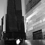 The 911 Memorial In Black And White Poster by Dan Sproul