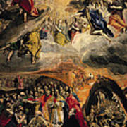 The Adoration Of The Name Of Jesus Poster by El Greco Domenico Theotocopuli