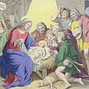The Adoration Of The Shepherds Poster by German School