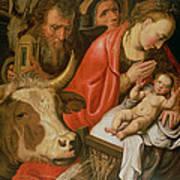 The Adoration Of The Shepherds Poster by Pieter Aertsen