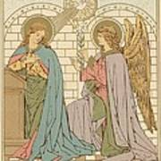 The Annunciation Of The Blessed Virgin Mary Poster by English School