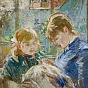 The Artists Daughter Poster by Berthe Morisot