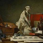 The Attributes Of The Arts And The Rewards Which Are Accorded Them Poster by Jean Baptiste Simeon Chardin