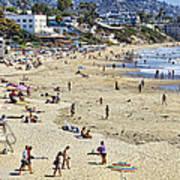 The Beach At Laguna Poster by Kelley King
