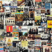 The Beatles Collage Poster by Taylan Soyturk