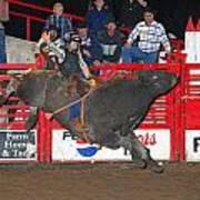 The Bull Rider Poster by Larry Van Valkenburgh