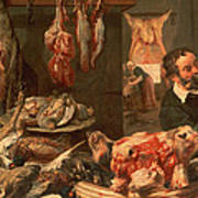 The Butcher's Shop Poster by Frans Snyders