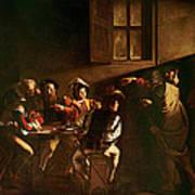 The Calling Of St Matthew Poster by Michelangelo Merisi o Amerighi da Caravaggio