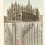 The Cathedral Of Milan Poster by Splendid Art Prints