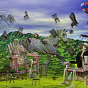 The Chairs Of Oz Poster by Betsy C Knapp