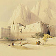 The Convent Of St. Catherine Poster by David Roberts