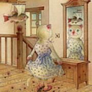 The Dream Cat 11 Poster by Kestutis Kasparavicius