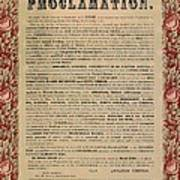 The Emancipation Proclamation Poster by American School