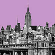 The Empire State Building Pantone African Violet Light Poster by John Farnan