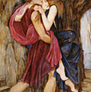 The Escape Poster by John Roddam Spencer Stanhope