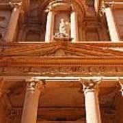 The Facade Of Al Khazneh In Petra Jordan Poster by Robert Preston