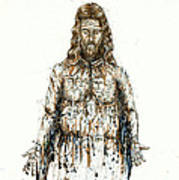 The Faces Of  Body Of Jesus Christ Poster by Thomas Lentz