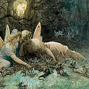 The Fairies From William Shakespeare Scene Poster by Gustave Dore