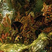 The Fairy Raid Poster by Sir Joseph Noel Paton