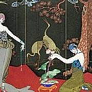 The Fashion For Lacquer Poster by Georges Barbier