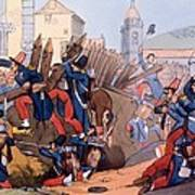 The French Legion Storming A Carlist Poster by English School