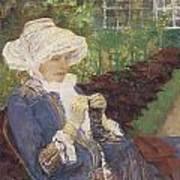 The Garden Poster by Mary Cassatt