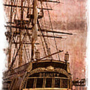 The Gleaming Hull Of The Hms Bounty Poster by Debra and Dave Vanderlaan