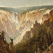 The Grand Canyon Of The Yellowstone Poster by Thomas Hill