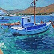 The Harbor  Tinos Poster by Andrew Macara