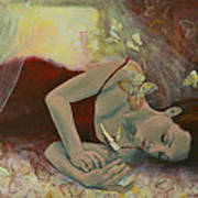 The Last Dream Before Dawn Poster by Dorina  Costras