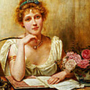 The Letter  Poster by George Goodwin Kilburne