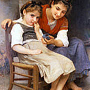 The Little Sulk Poster by William Bouguereau