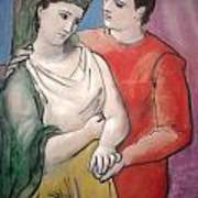 The Lovers Poster by Pablo Picasso