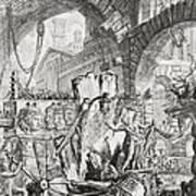The Man On The Rack Plate II From Carceri D'invenzione Poster by Giovanni Battista Piranesi
