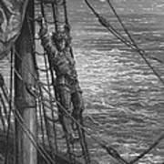 The Mariner Describes To His Listener The Wedding Guest His Feelings Of Loneliness And Desolation  Poster by Gustave Dore