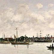 The Meuse At Dordrecht Poster by Eugene Louis Boudin