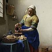 The Milkmaid Poster by Johannes Vermeer